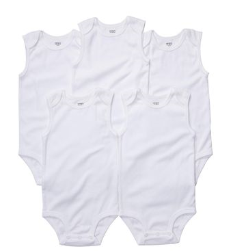5 pack sleeveless bodysuits  - Carter's