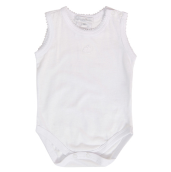 Baby Cottons - Kit Bodies branco sem manga com bordado