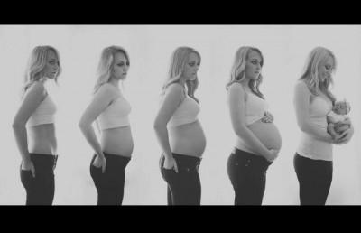 maternidade ideias1 400x258 Idéias de fotos para registrar sua gravidez