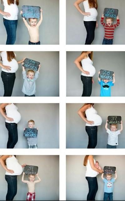 maternidade ideias2 400x645 Idéias de fotos para registrar sua gravidez