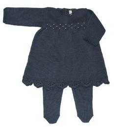 Conjunto Vestido Flôr Crochê    Loja Silmara Bebê