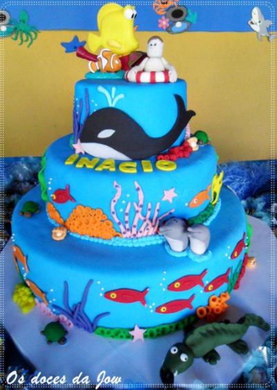 bolo fundo do mar