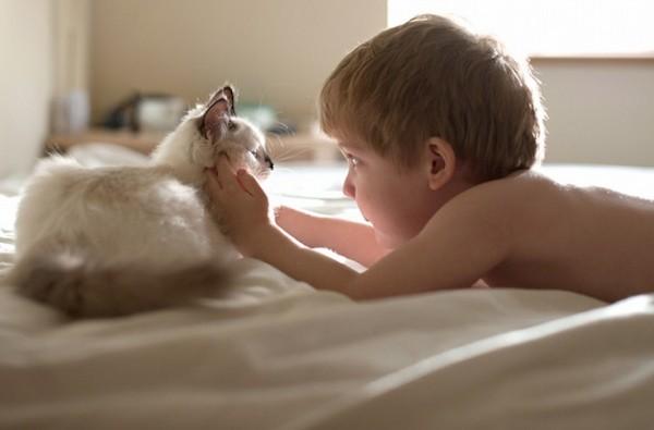 criança e gato 2