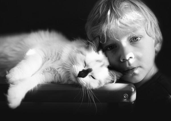 criança e gato 8