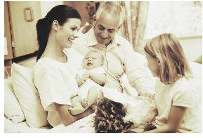 visita maternidade bebe casa