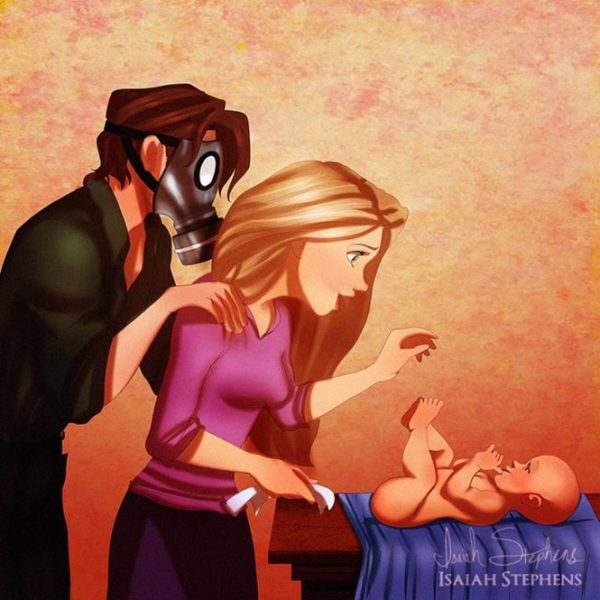 princesa disney mae gravida 2