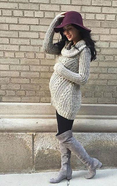 gravida estilo inverno look16