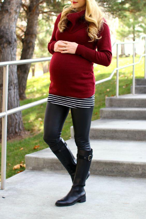 gravida estilo inverno look17